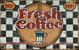 Fresh Coffee Vintage Wood Sign