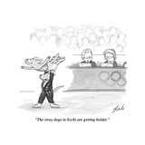 """The stray dogs in Sochi are getting bolder"" - Cartoon"