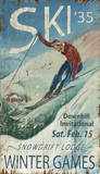 Winter Games: Ski Vintage Wood Sign