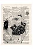 Pug Dictionary Reproduction d'art par Tina Carlson