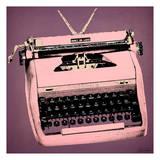 Pink Typewriter Reproduction d'art par Tina Carlson