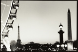 Eiffel Tower and Ferris Wheel  Paris  France