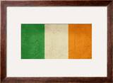 Grunge Officall Flag Of The Irish Tricolor  Republic Of Ireland