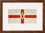 Grunge Ulster Flag Of Northern Ireland Illustration  Isolated On White Background