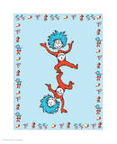 Cat in Hat Blue Border Collection III - Thing 1 & Thing 2 (blue bordered)