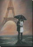Kissing In Paris Canvas