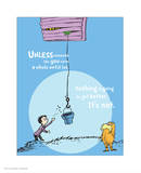 Unless Someone Cares (blue) Reproduction d'art par Theodor (Dr. Seuss) Geisel