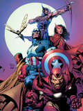 Avengers No80 Cover: Iron Man  Captain America  Vision  Scarlet Witch  Hawkeye  Wasp and Avengers
