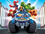 Marvel Super Hero Squad: Spider-Man  Wolverine  Hulk  Iron Man  Captain America  and Human Torch