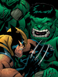 World War Hulk: X-Men No2 Cover: Wolverine and Hulk