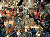 Secret Invasion No7 Group: Spider-Man  Ronin  Mr Fantastic and Stature
