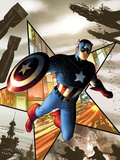 Captain America No1 Cover: Captain America Jumping