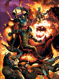 New Avengers No54 Cover: Wolverine  Spider-Man  Dormammu and Captain America