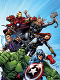 Avengers Assemble No1 Cover: Captain America  Hulk  Black Widow  Hawkeye  Thor  and Iron Man