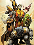 Astonishing X-Men No38 Cover: Storm  Beast  Colossus  Kitty Pryde  Lockheed  & Agent Abigail Brand