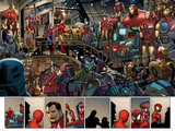 Ultimate Spider-Man No153: Panels with Spider-Man and Iron Man