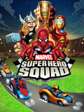 Marvel Super Hero Squad: Thor  Spider-Man  Iron Man  Thing  and Wolverine Riding