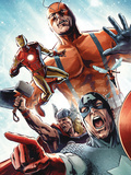 Avengers vs Atlas No2 Group: Captain America  Thor  Iron Man  Wasp and Giant Man