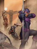 Avengers: Solo No1 Cover: Captain America  Iron Man  Thor  and Hawkeye Shooting a Bow and Arrow