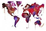 Watercolor Map No 1