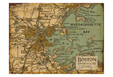 Environs Boston Sepia