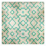 Teal on Tan Pattern