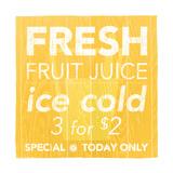 Fresh Juice Yellow Reproduction d'art par Kristin Emery