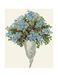 Die-Cut Scrap of Bouquet of Forget-Me-Nots