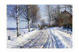 Winter Scene  Dalarne