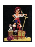 Illustration of Boy Dressed as Pirate