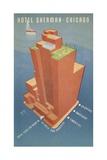 Hotel Sherman Chicago Postcard