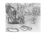 Johannes Staden Tries to Swim to a French Boat to Escape the Indians