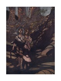 Hansel and Gretel in the Forest Illustration