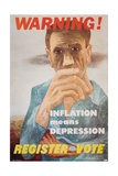 Warning! Inflation Means Depression Poster