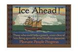 Ice Ahead! Illustration