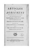 """Title Page Woodcut of the """"Articles of AgreementMaryland and Pensilvania"""""""