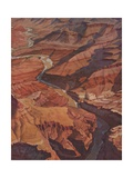 Illustration of the Grand Canyon and Colorado River