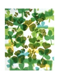 1970s Colorful Background Montage Overlapping Shamrocks