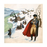 Illustration of George Washington at Valley Forge