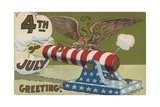 4th of July Greeting Postcard