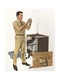 Illustration of Television Repairman