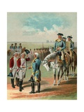 Illustration of the British Surrendering to George Washington at Yorktown