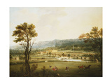 An Extensive View of Chatsworth  Derbyshire from the South-West