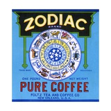 Zodiac Brand Pure Coffee Product Label