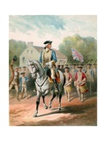 Illustration of George Washington Leaving for the Front in April 1754