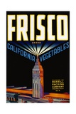 Frisco California Vegetables Crate Label