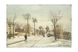 Snowy Road  Louveciennes