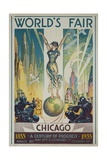 1933 Chicago Centennial World's Fair Poster Giclée