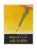 Air Union 1920s Travel Poster Paris London Golden Ray