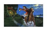 Illustration of Midnight Ride of Paul Revere